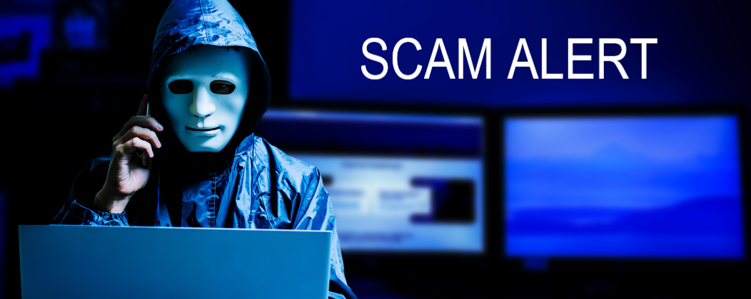 Scam Alert. A hacker makes a scam phone call.
